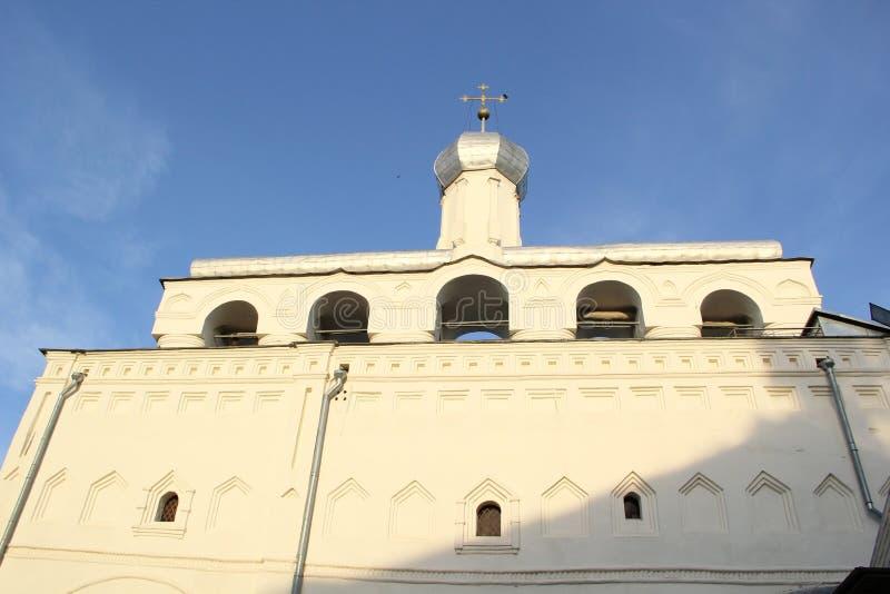 Kerk in Velikiy Novgorod stock fotografie