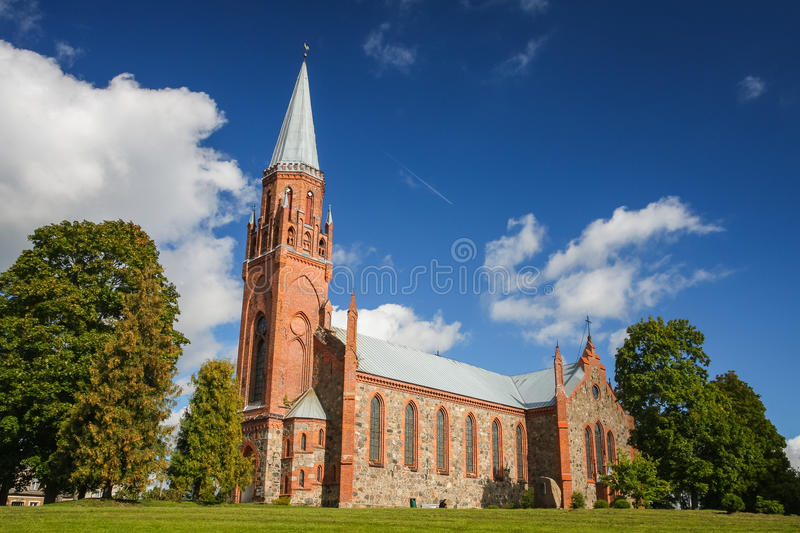 Kerk in Viljandi royalty-vrije stock foto