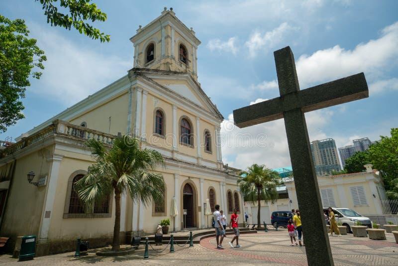 Kerk in vroeger Macao, PR China stock fotografie
