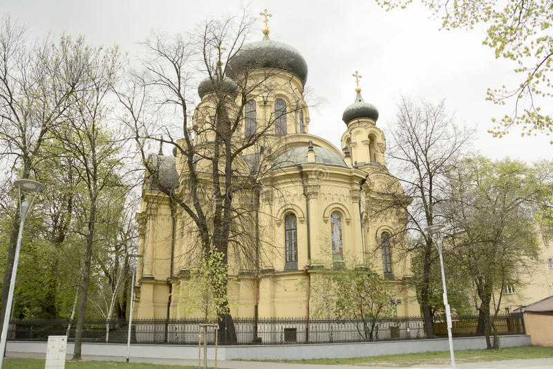 Kerk in Warshau royalty-vrije stock afbeelding