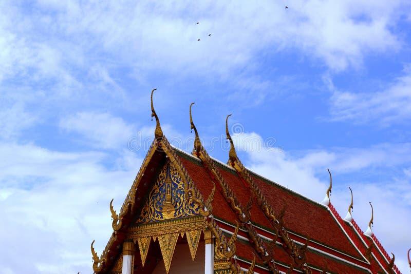 Kerk in wat ThaLuang Thailand royalty-vrije stock foto's