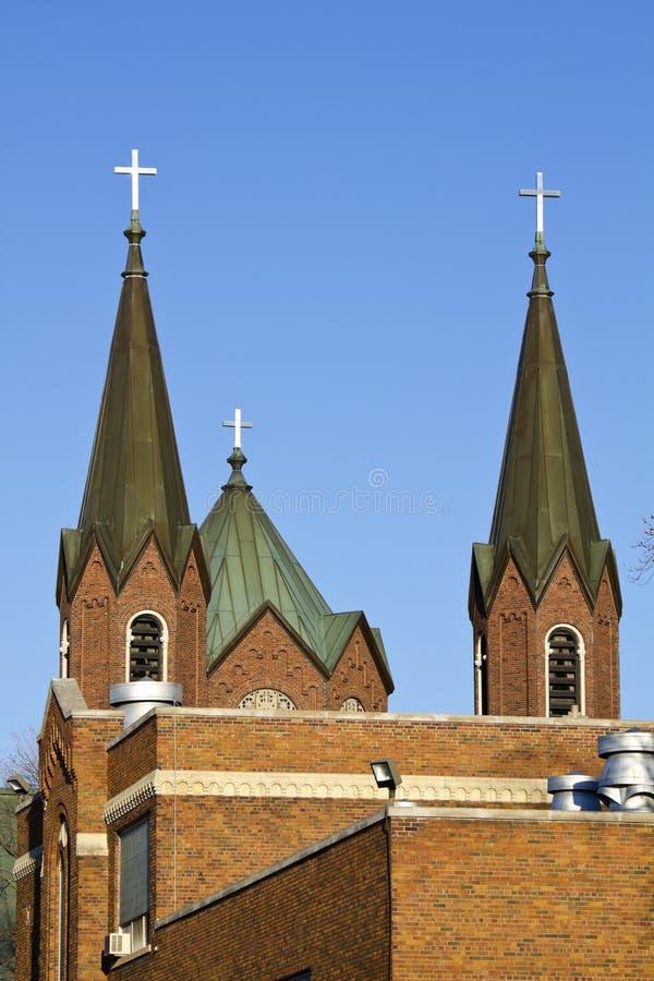 Kerk in Wausau stock afbeeldingen