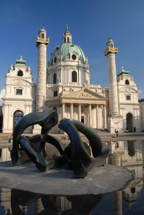 Kerk Wenen - Karlskirche royalty-vrije stock afbeeldingen