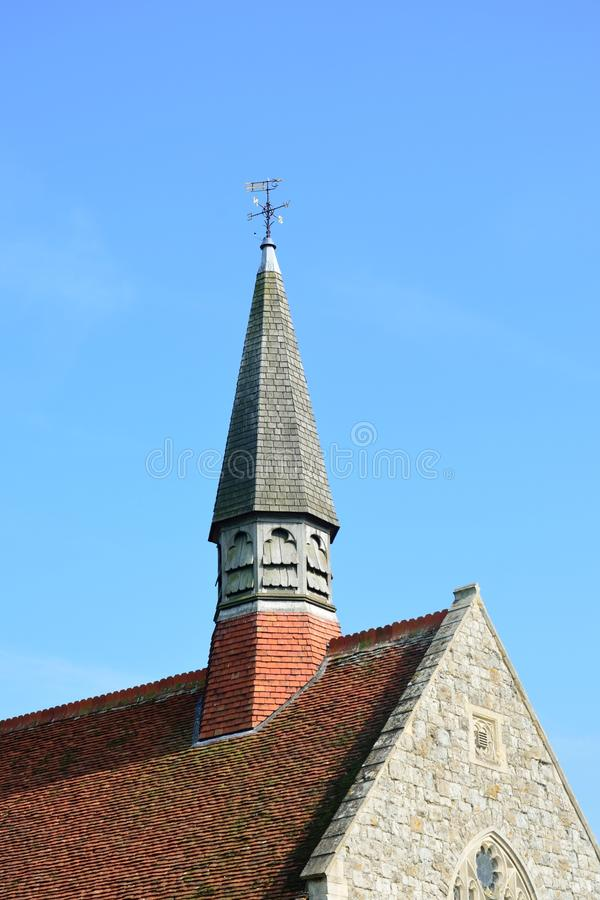 Kerkdak en toren royalty-vrije stock foto