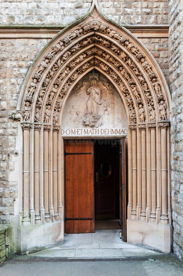 Kerkdeur stock afbeelding