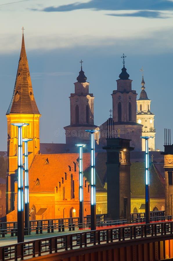 Kerken in Kaunas, Litouwen royalty-vrije stock foto