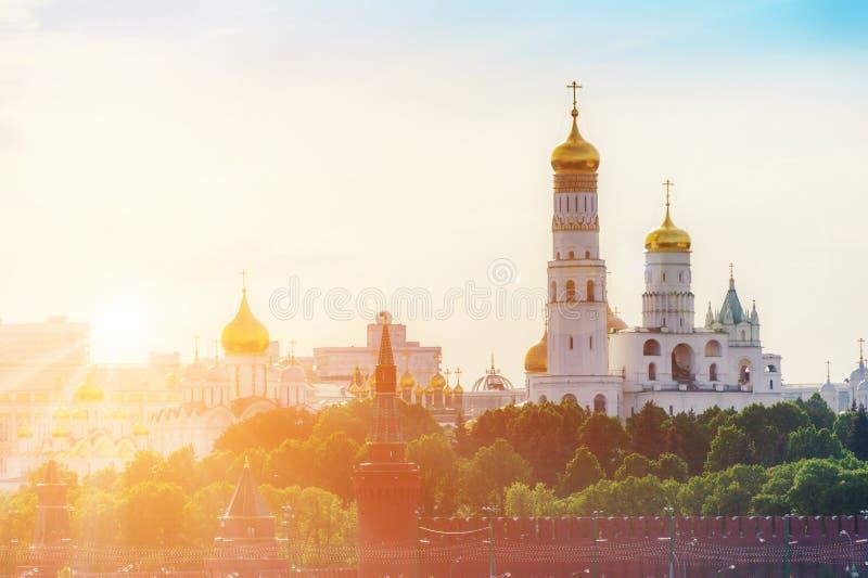 Kerken in Moskou het Kremlin stock foto