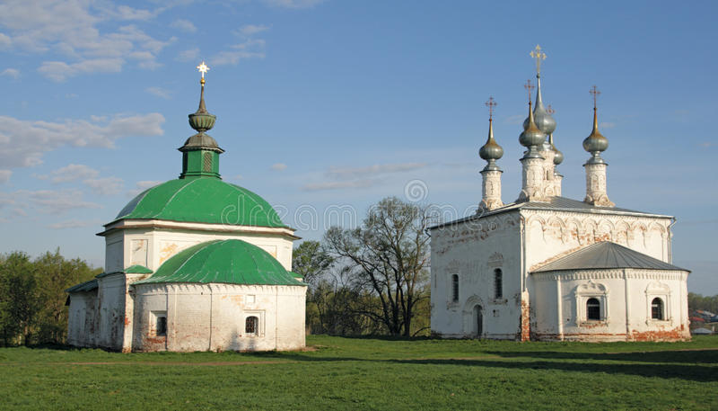 Kerken. Suzdal. Gouden Ring, Rusland royalty-vrije stock afbeelding