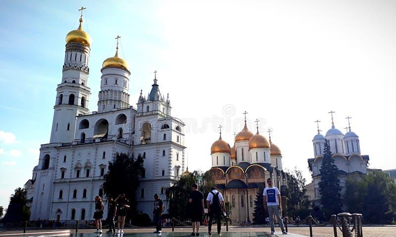 Kerken van het Kremlin in Moskou royalty-vrije stock foto's
