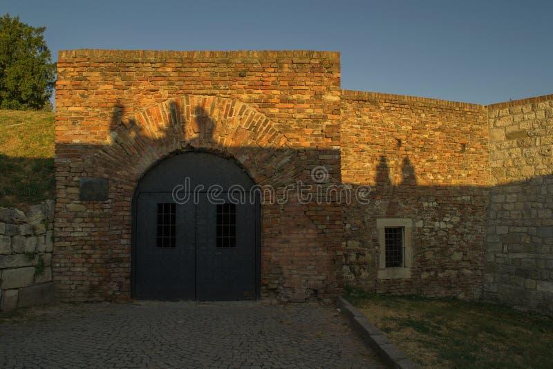 Kerker zoals deuren van de Romein bij Kalemegdan-vesting, Belgrado, Servië stock foto's