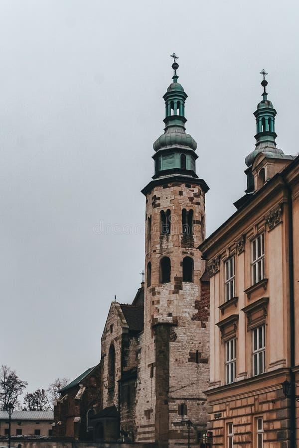 Kerkheiligen Peter Paul Old Town, Krakau, Polen stock foto