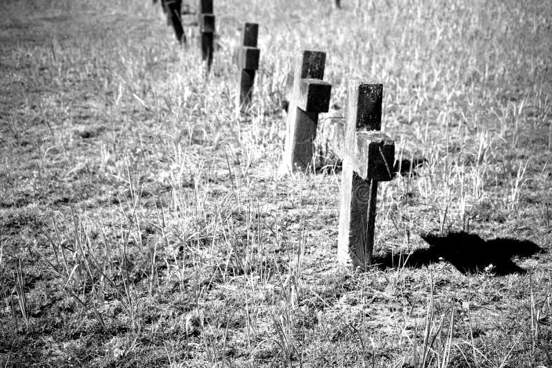 Kerkhofgrafstenen stock fotografie