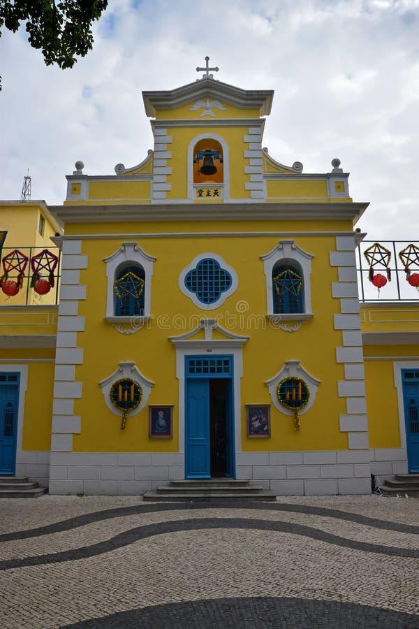 Kerkkapel van Heilige Francis Xavier in Coloane, Macao royalty-vrije stock afbeelding