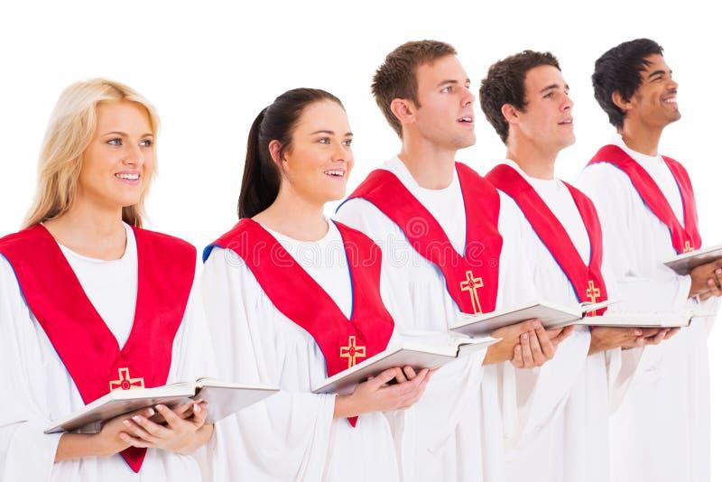 Kerkkoor het zingen stock foto