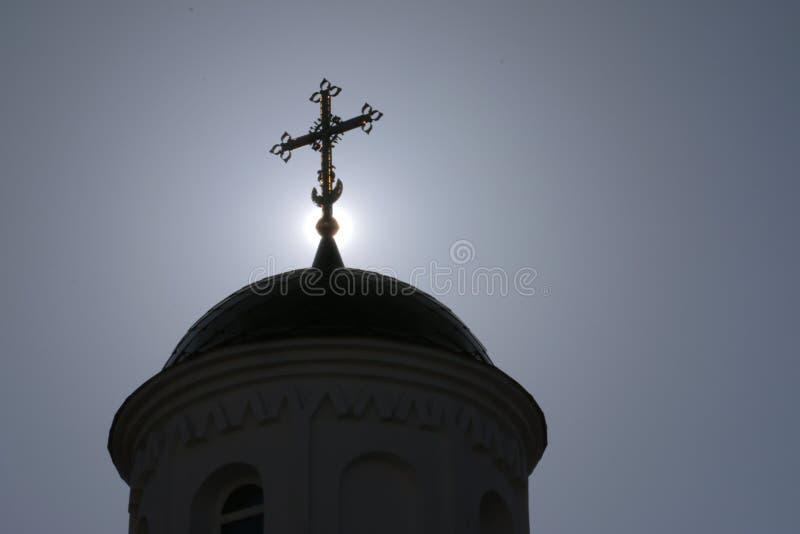 Kerkkruis royalty-vrije stock afbeelding