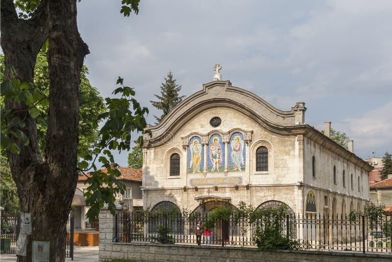 Kerkmartelaar St George op het centrum van stad van Dobrich, Bulgarije royalty-vrije stock fotografie