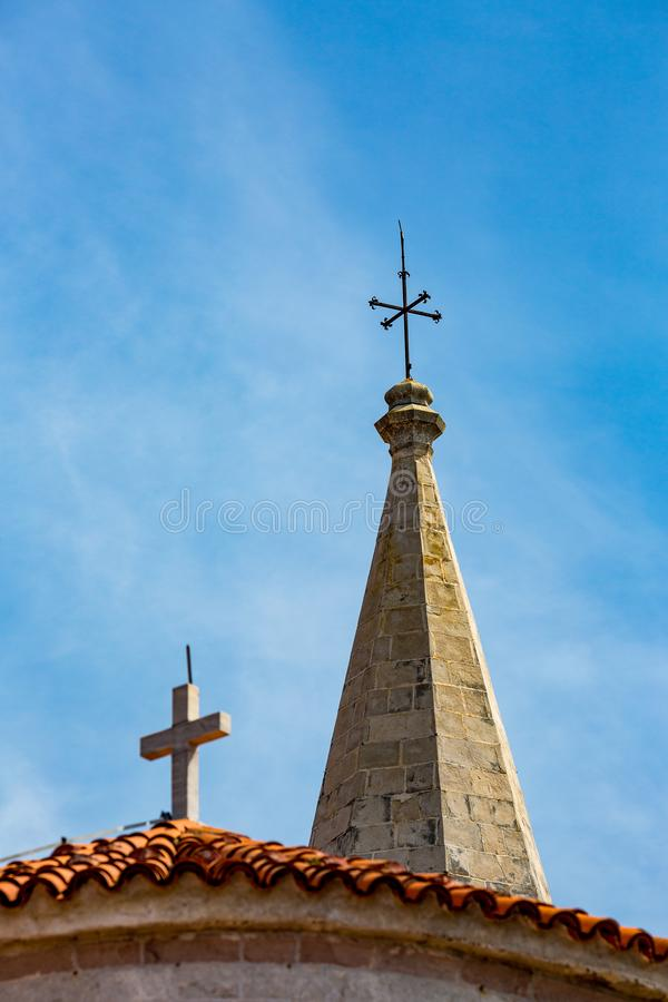 Kerknaald van St John in Budva, Montenegro stock fotografie