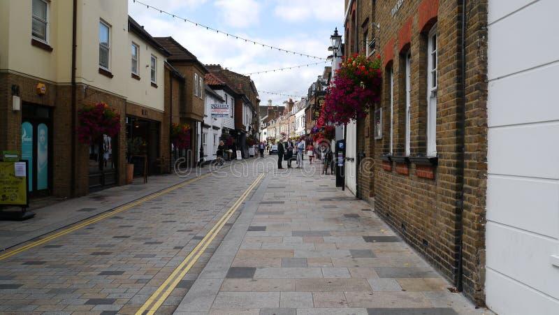 Kerkstraat de oudste straat in Twickenham Londen royalty-vrije stock fotografie