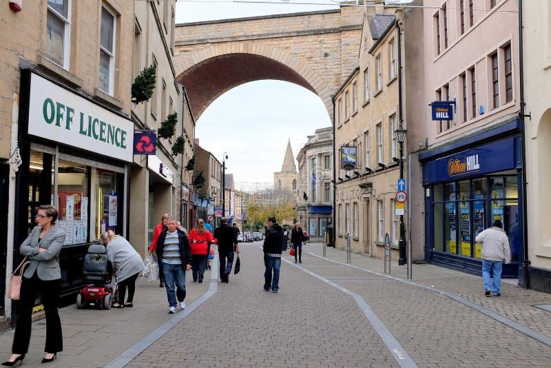 Kerkstraat, Mansfield, Nottinghamshire stock fotografie