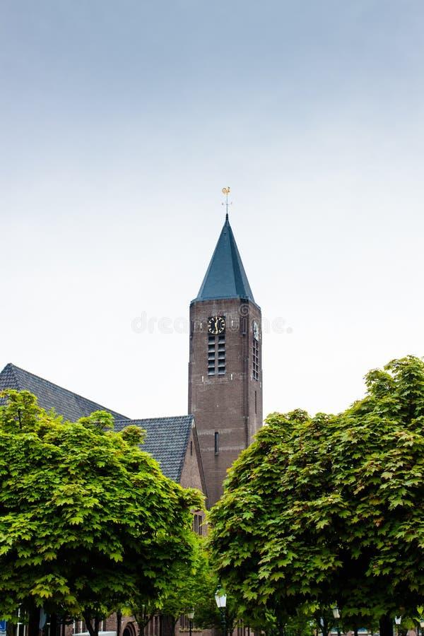 Kerktoren in Bussum royalty-vrije stock fotografie