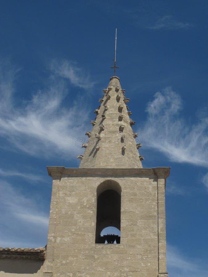 Kerktorenspits in Avignon, Frankrijk royalty-vrije stock fotografie
