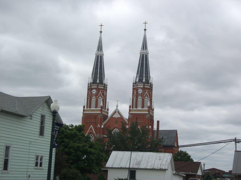 Kerktorenspitsen royalty-vrije stock fotografie