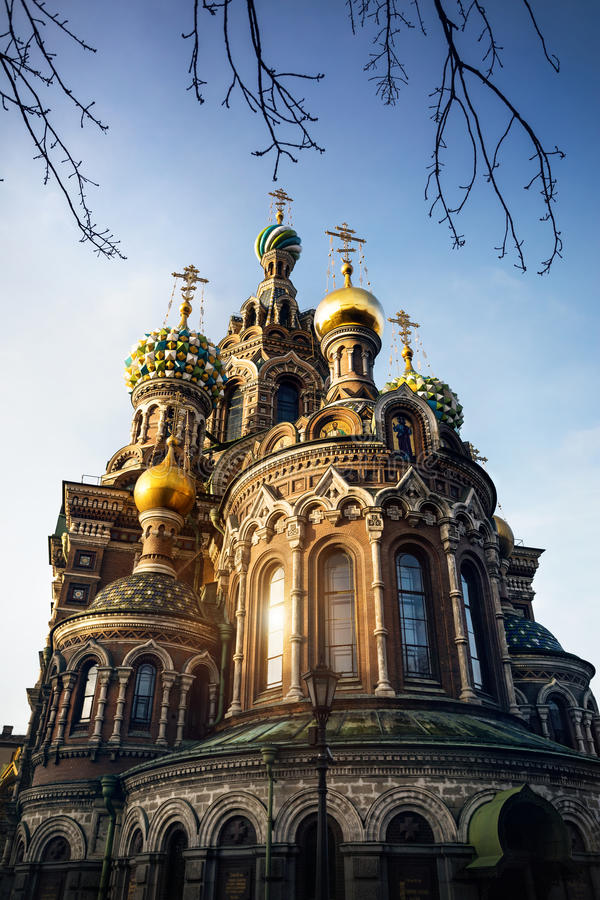 Kerkverlosser op Gemorst Bloed in Petersburg royalty-vrije stock fotografie