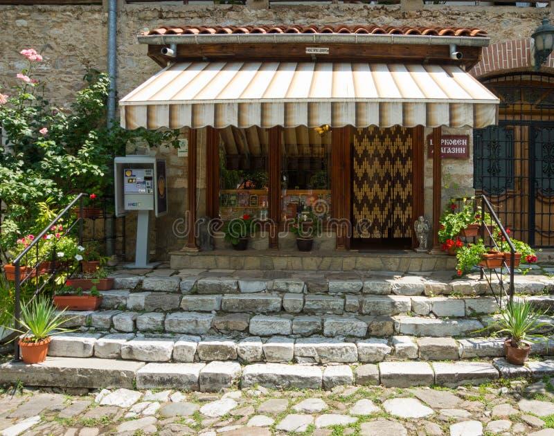 Kerkwinkel aan Bachkovo-Klooster in Bulgarije royalty-vrije stock foto's