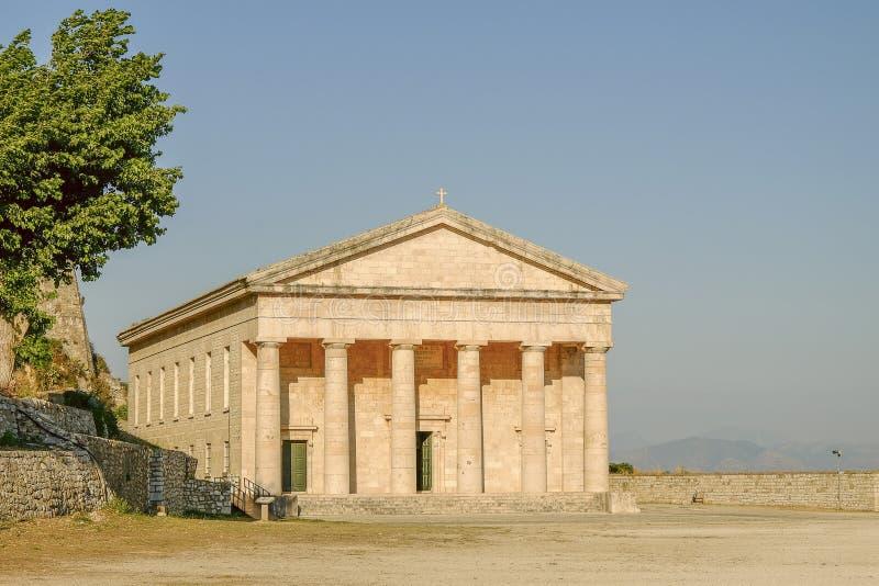 KERKYRA, CORFU, GREKA St George& x27; s kościół w obraz royalty free