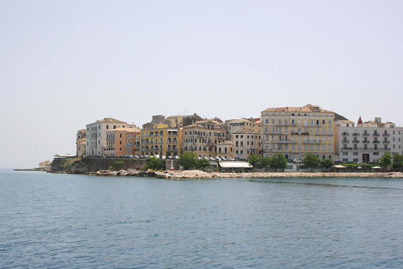 Download Kerkyra from sea stock photo. Image of water, summer - 15408536
