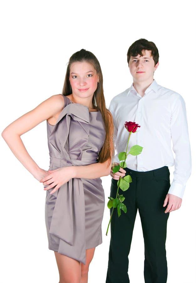 Kerl und Mädchen lizenzfreie stockfotografie