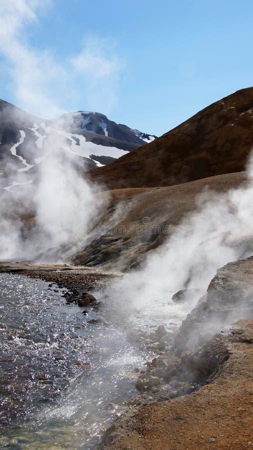 Kerlingarfjöll geothermisch gebied in centrum van IJsland stock foto