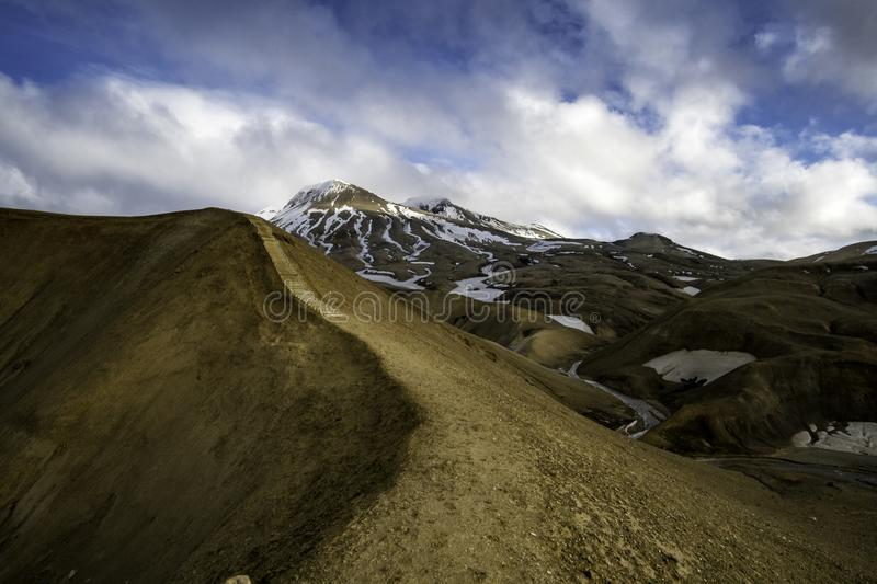 Kerlingarfjoll hiking trail in the Iceland highlands royalty free stock photos