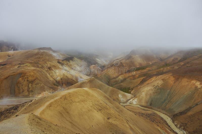 Kerlingarfjoll ou l'Ogress& x27 ; Les montagnes, une montagne volcanique ont fonctionné photo libre de droits