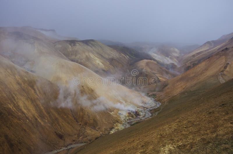 Kerlingarfjoll ou l'Ogress& x27 ; Les montagnes, une montagne volcanique ont fonctionné images stock