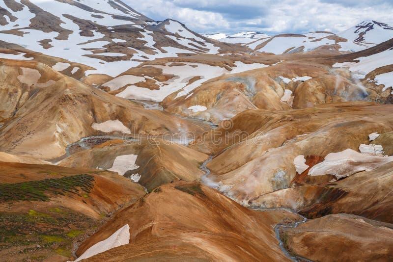 Kerlingarfjoll ou les montagnes de l'Ogress images libres de droits