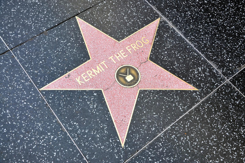 Kermit a estrela da râ foto de stock royalty free