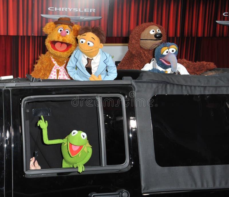 Kermit a râ, os Muppets,   fotos de stock