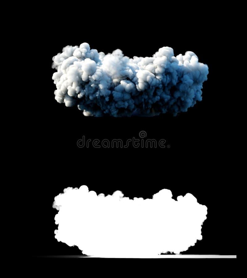 Kern ballistische complexe raket, De lanceringsraket, stof isoleert het 3d teruggeven stock illustratie