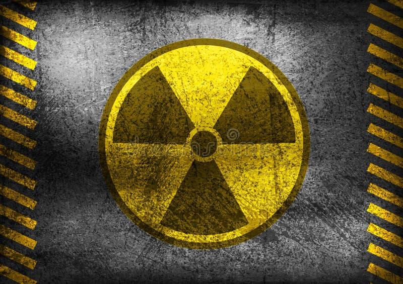 Kern de stralingssymbool van Grunge royalty-vrije illustratie