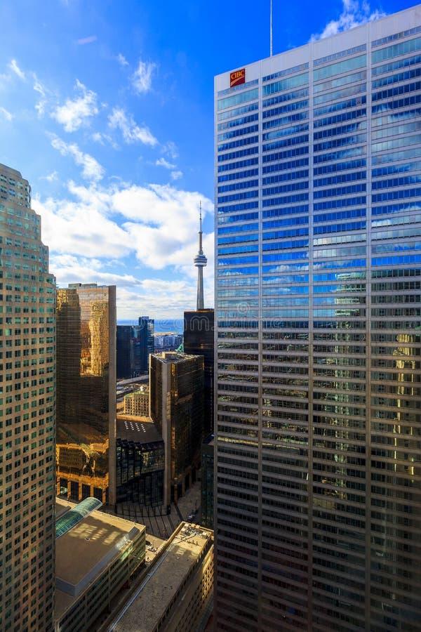Kern de Van de binnenstad van Toronto bij nacht royalty-vrije stock foto