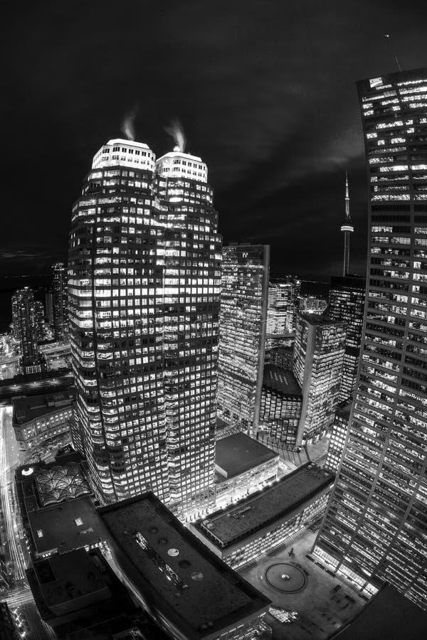 Kern de Van de binnenstad van Toronto bij nacht royalty-vrije stock foto's