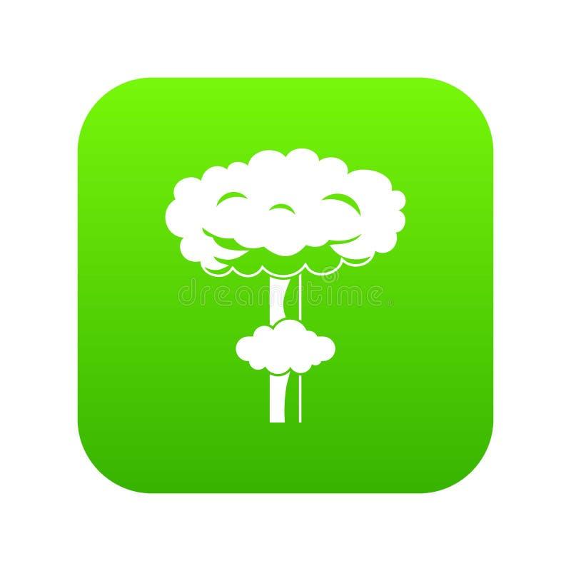 Kern digitale groen van het explosiepictogram vector illustratie