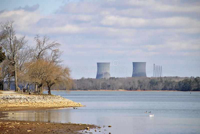 Kern Elektrische centrale stock foto