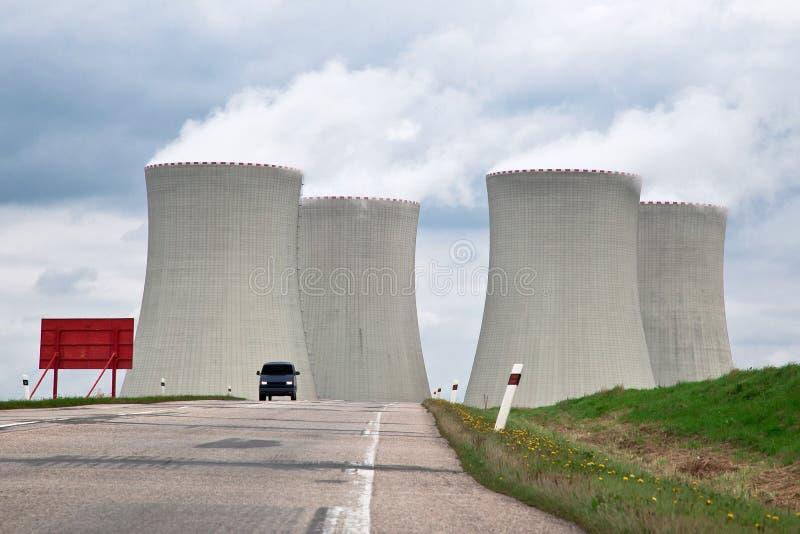 Kern Elektrische centrale royalty-vrije stock afbeelding