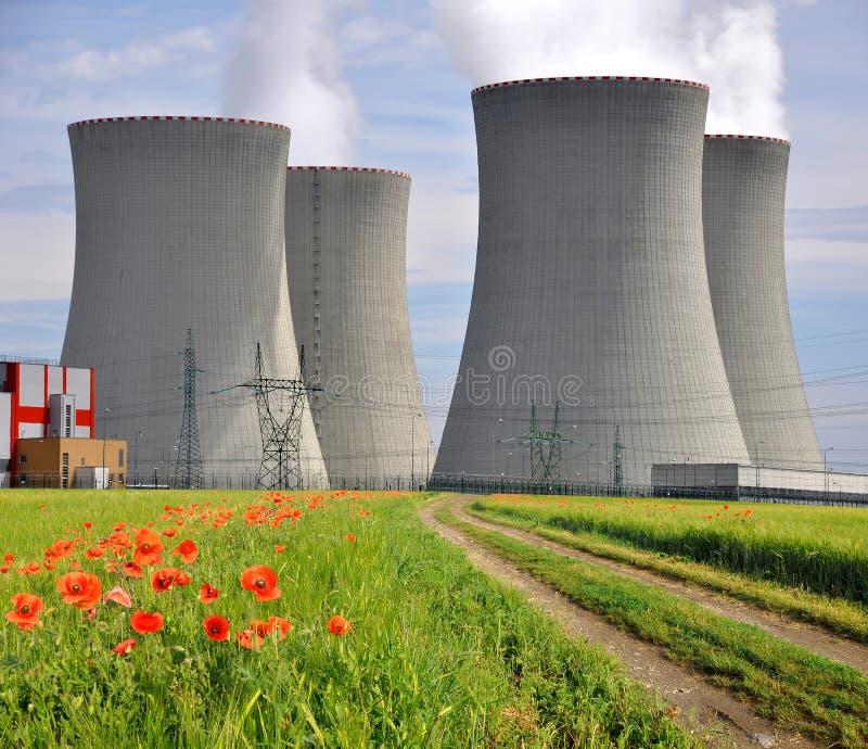 Kern elektrische centrale Temelin stock foto's