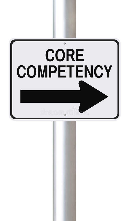 Kern-Kompetenz lizenzfreie abbildung