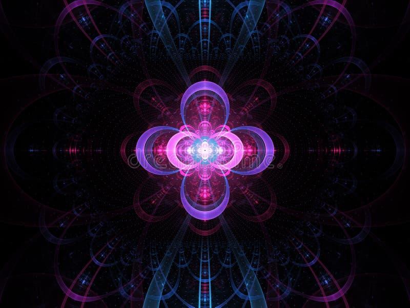 Kern koude fusie abstracte fractal achtergrond royalty-vrije illustratie