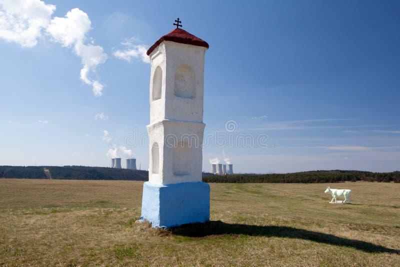 Kern macht Dukovany royalty-vrije stock foto's