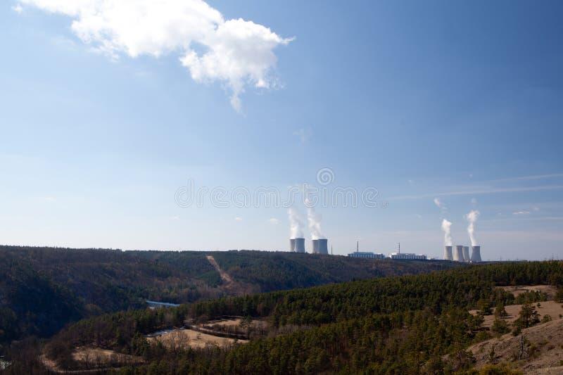 Kern macht Dukovany stock afbeelding